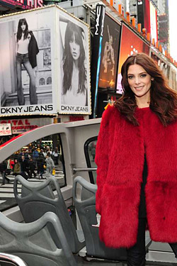 Ashley Greene DKNY jeans ad billboard times square
