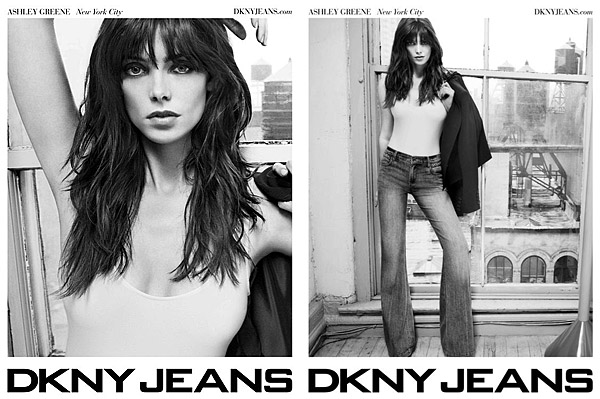 Ashley Greene DKNY jeans ad
