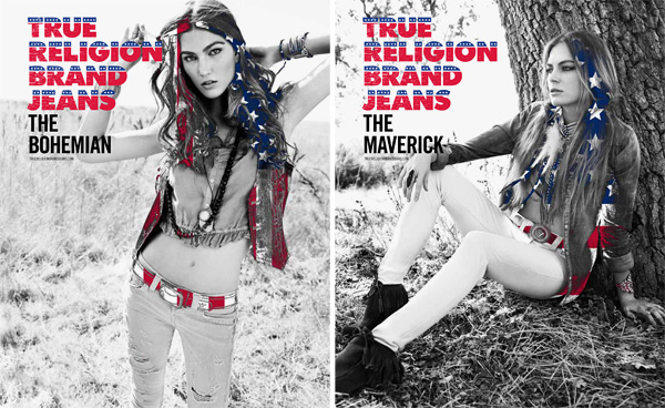 True Religion Spring 2012 ads
