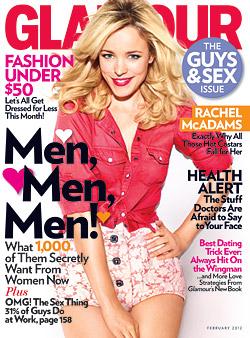 Rachel McAdams Glamour February 2012 cover