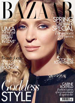 Uma Thurman covers Harper's Bazaar U.K.