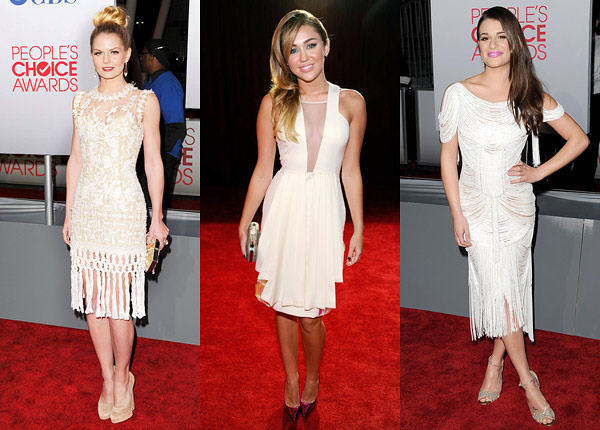 PCA awards white dress trend