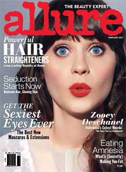 Zooey Deschanel Allure magazine cover