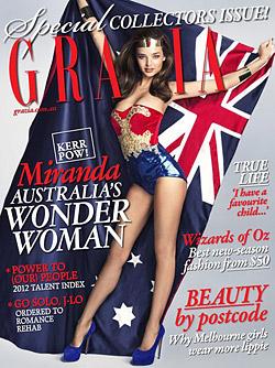 Miranda Kerr Wonder Woman  Grazia Australia