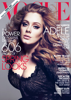 adele vogue march cover
