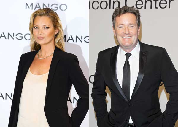Kate Moss and Piers Morgan