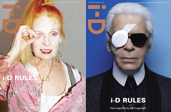 Vivienne Westwood Karl Lagerfeld  i-D Royalty Issue