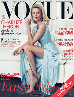 Charlize Theron Vogue U.K. May 2012 cover