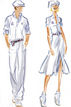 Olympic closing ceremony uniforms  Ralph Lauren
