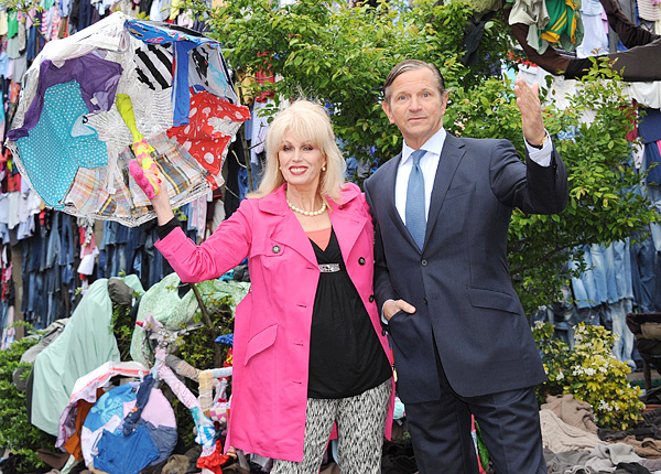 Joanna Lumley and Marc Bolland Marks And Spencer
