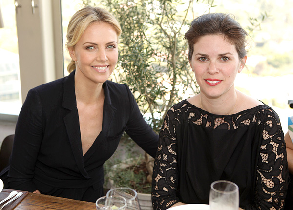 Charlize Theron and Leslie Fremar