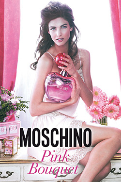 Moschino Launching Pink Bouquet Fragrance kendra spears