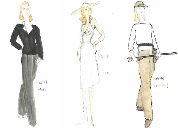 Nicole Kidman HBO's Hemingway and Gellhorn ruth myers sketches