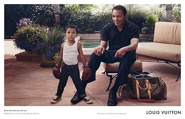 Muhammad Ali Louis Vuitton Core Values campaign