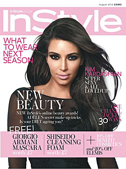 Kim Kardashian instyle uk august