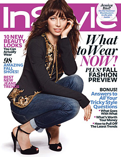 Jessica Biel InStyle August