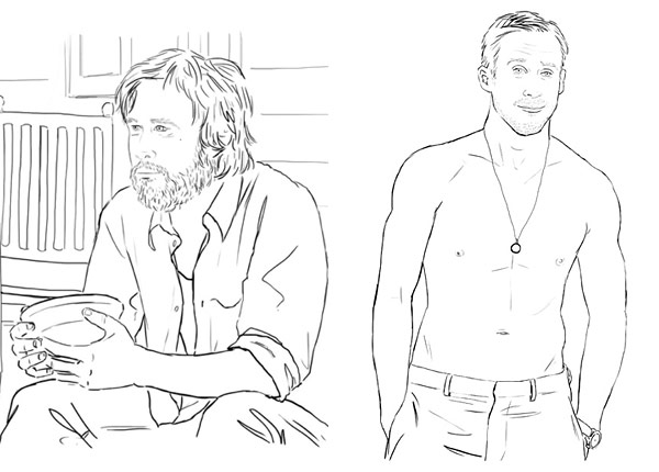 ryan gosling coloring book colour me good