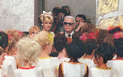 Karl Lagerfeld Birthday Linda Evangelista Claudia Schiffer