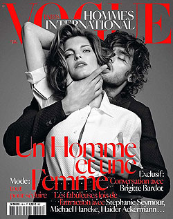 stephanie seymour choking vogue hommes choking