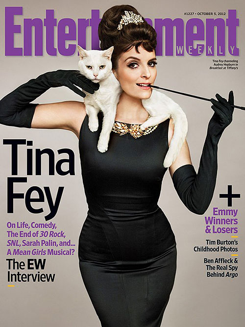 Tina Fey Entertainment Weekly Holly Golightly Breakfast at Tiffanys
