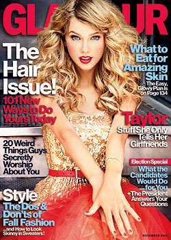 taylor swift glamour november covers