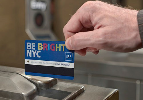 Gap be bright new york city mta metrocard