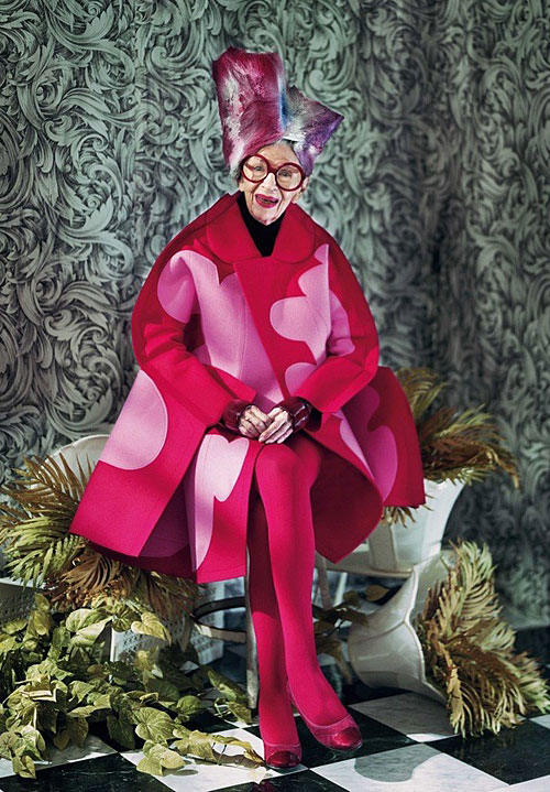 Iris Apfel Dazed and Confused Comme des Garcons