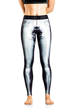 nike x ray bones athletic tights for women laughing squid