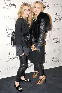Ashley Mary-Kate Olsen barneys christian louboutin book launch
