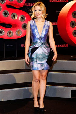 Kristen Bell Brian Reyes printed minidress Resort 2011
