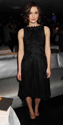 Keira Knightley black Chanel dress