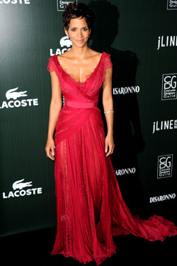Halle Berry red Elie Saab Spring 2011 Couture gown 13th Annual Costumer Designers Guild Awards