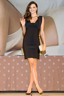 Miranda Kerr Roland Mouret Macha stretch dress