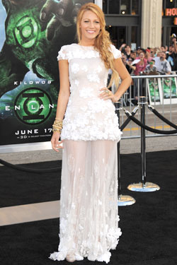 Blake Lively white chanel dress
