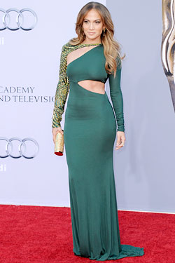 Jennifer Lopez green Emilio Pucci dress