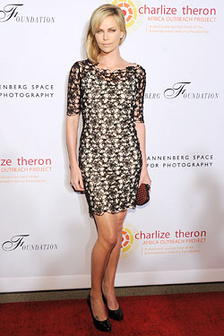 Charlize Theron Christian Dior dress