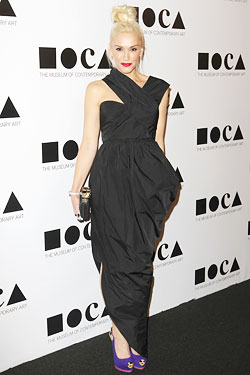 Gwen Stefani black Carven dress 2011 MOCA gala